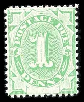 Lot 3811:1902 Converted NSW Plates BW #D3 1d emerald, P11½-12x11½.