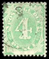 Lot 936:1902 Converted NSW Plates BW #D11 4d emerald