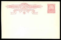 Lot 4108:1911 1d Red KGV Fullface BW #P1 semi-surfaced back, heading begins 'ADDRESS ONLY...', unused.