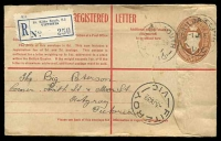 Lot 706:1937-42 5d Brown KGVI Oval BW #RE28B on buff used from St Kilda South Victoria in 1939.