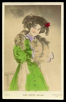 Lot 287:Actors & Actresses: Tinted PPC 'Miss Gertie Millar'.