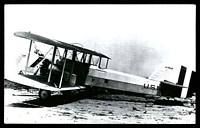Lot 257:Aircraft: black & white PPC 'Douglas T2D-1', bi-plane real photo.