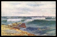 Lot 332:Australia - Artist: multi-coloured PPC 'The murmuring of the sea' by unknown artist.