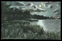 Lot 74:Australia - South Australia: multi-coloured PPC 'Torrens Lake, Adelaide, South Australia', unusual moonlight scene.