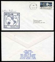 Lot 29332:1973 Skylab II cover with cachet in black signed by Astonaut William B Lenoir.