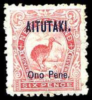 Lot 3556:1903 Overprints SG #6 6d rose-red.