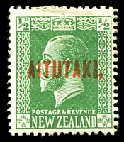 Lot 18767:1917-20 KGV Opts ½d green SG 19.