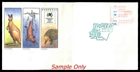Lot 771:1988 Sydpex 88 set of nine illustrated covers one for each day of Exhibition with 50c Sydpex Frama tied by Special daily cancels, unaddressed. (9)