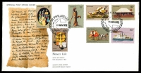 Lot 724:APO 1972 Pioneer Life set tied to APO illustrated cover by Melbourne Philatelic Bureau cds 15 NOV 1972, unaddressed.