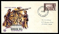 Lot 3697:WCS 1958 4d Broken Hill tied to illustrated FDC by Portland cds 10SE58.
