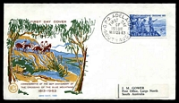 Lot 4191:WCS 1963 5d Blue Mountains tied to illustrated FDC by Adelaide cds May28 63.