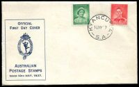 Lot 1039:APO 1937 1d QE & 2d KGVI on Hermes cover tied by Kyancutta cds 10MY37, unaddressed.
