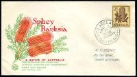 Lot 4148:WCS 1960 2/5d Banksia on illustrated cover tied by Adelaide cds 16 MAR 60.