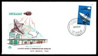 Lot 725:Royal 1968 25c Intelsat illustrated FDC with adhesive tied by Adelaide cds 20MR68, unaddressed.