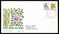 Lot 4285:APO 1970 Floral Coils Illustrated cover with 4c & 5c floral coils tied by Russell Street cds 27AP70, neat type address.
