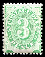 Lot 379:1902 Converted NSW Plates BW #D10a 3d emerald P11½-12x11½ with Wmk upright.