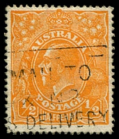Lot 227:½d Orange - BW #66a Wmk inverted.