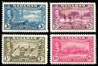 Lot 3528 [1 of 4]:1948 Tercentenary SG #178-90 set to 3/-, a few values including 2/- & 3/- mint no gum. (13)