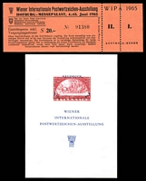 Lot 5:Austria: 1965 Wipa Imperf M/S together with 