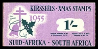 Lot 9:South Africa: 1955 1/- Booklet of Christmas Seals 