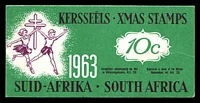 Lot 15:South Africa: 1963 10c Booklet of Christmas Seals issued to fight TB.