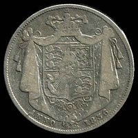 Lot 38 [1 of 2]:Great Britain: 1836 ½-Crown George IIII.