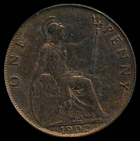 Lot 30 [1 of 2]:Great Britain: 1902 KEVII 1d Unc.