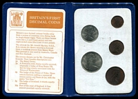 Lot 36 [2 of 2]:Great Britain: 1968 -71 First Decimal coin wallet.