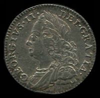 Lot 32 [2 of 2]:Great Britain: 1758 George II 6d, strong portrait.