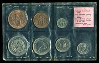 Lot 28 [2 of 2]:New Zealand: 1965 uncirculated set of 7 coins. (7)