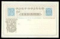 Lot 24128:1883 HG #4 5a+5a reply card, reply card with minor discolouration.