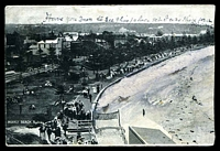 Lot 1043 [1 of 2]:Manly: - Black & white PPC 'Manly Beach, Sydney' used at Sydney in 1907.  PO 1/4/1857.