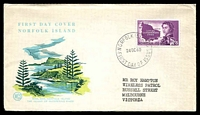 Lot 4266:1960 Local Government 2/8d tied to illustrated Wesley FDC by Norfolk Island cds 24OC60.