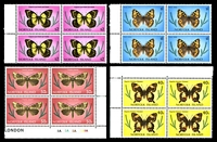 Lot 4122 [1 of 5]:1976-77 Butterflies and Moths SG #179-95 definitive set in marginal blocks of 4.