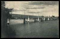 Lot 849:Gladesville: - Black & white PPC 'Gladesville Bridge'. Unused.  PO 1/1/1861.