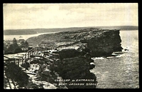 Lot 60:Australia - New South Wales: Black & white PPC 'The Gap & Entrance to Port Jackson Sydney', real photo.