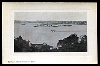 Lot 42:Australia - New South Wales: Black & white PPC 'Spectacle Island, Parramatta River', real photo.
