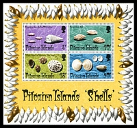 Lot 4181:1974 Shells SG #151 Miniature sheet.