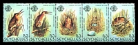 Lot 4353:1982 Chinese Little Bittern SG #523-7 se-tenant strip of 5 (one unit *).
