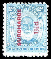 Lot 28845:1895 Surcharges SG #26 1½d on 2d pale blue.