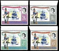 Lot 4221:1966 150th Anniversary of Tristan Garrison SG #93-6 set. (4)