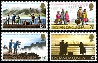 Lot 4681:1973 Return to Tristan SG #182-5 set (4)