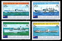 Lot 4500:1978 Royal Fleet Auxiliary Vessels SG #250-3 set. (4)