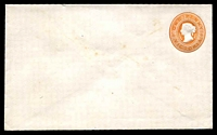 Lot 11434:1890 1d Embossed QV With Stamp Duty in Design Stieg #B7 1d orange-brown, odd mild spot.