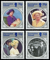 Lot 3223 [2 of 2]:1985 Queen Mother SG #376-80 complete set with M/S. (5)