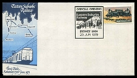 Lot 4319:1979 Official Opening Eastern Suburbs Railway Sydney illustrated cover with adhesive tied by commemorative cancel 23 JUN 1979, unaddressed.