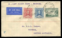 Lot 5195 [1 of 2]:1930 Perth - Wyndham AAMC #165a cover from Whim Creek flown to Wyndham, scarce intermediate