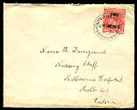 Lot 5035:1930 use of TWO PENCE on 1½d KGV, Die II on 'Aberdeen & Commonwealth Line' cover to Melbourne tied by fine Outer Harbour South Australia cds.