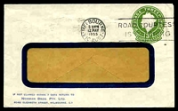Lot 491:1953-57 3d Green QEII Large Die BW #ES91 on window faced envelope, for Norman Bros used in 1955.