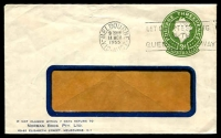Lot 704:1953-57 3d Green QEII Large Die BW #ES91 on window faced envelope for Norman Bros P/L used in 1955.
